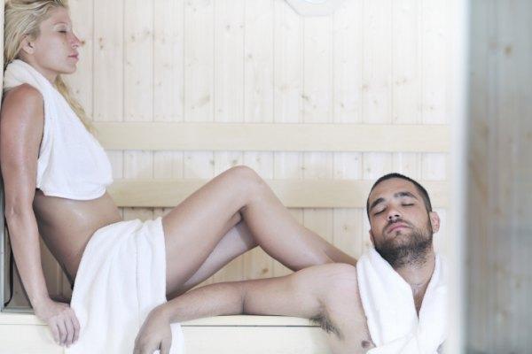 sauna met voucher of card